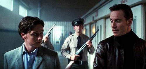 Charles Xavier and Erik Lehsherr in X-Men: First Class
